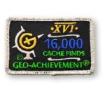 16000 Finds Geo-Achievement Patch